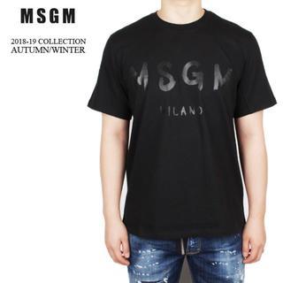 エムエスジイエム(MSGM)の【9】MSGM 18aw メンズ ブラック 半袖 Tシャツ size L(Tシャツ/カットソー(半袖/袖なし))