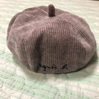 agnes b. - アニエス・ベー キッズベレー帽 ピンク