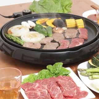 ■アイリスオーヤマ ホットプレート 丸型(調理機器)