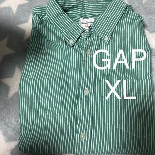 ギャップ(GAP)のGAP メンズ シャツ XL グリーンストライプ(シャツ)