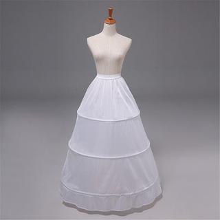 【花嫁ドレス 定番】3段フリル ボリューム パニエ