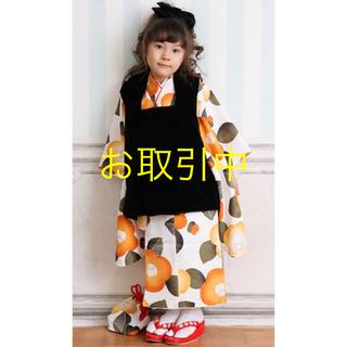 【美品】3歳 着物 被布 など 8点セット (和服/着物)