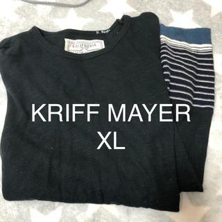 クリフメイヤー(KRIFF MAYER)のKRIFF MAYER ブラック XL 細身(Tシャツ/カットソー(七分/長袖))