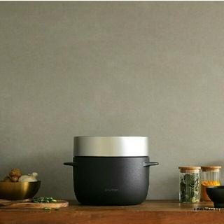 バルミューダ(BALMUDA)のBALMUDA The Gohanバルミューダ ザ・ゴハンK03A-BKブラック(炊飯器)