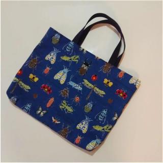 ハンドメイド 絵本袋 手提げ袋 レッスンバッグ バッグ 絵本バッグ 虫 昆虫(バッグ/レッスンバッグ)