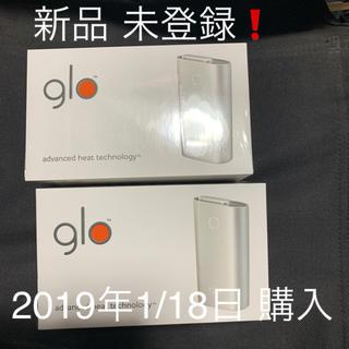 グロー(glo)の新品 未登録 グロー2台セット(タバコグッズ)