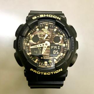 ジーショック(G-SHOCK)の 【即日発送】未使用 GA-110CF 迷彩 ビッグフェイス 黒 デジアナ 緑 (腕時計(アナログ))