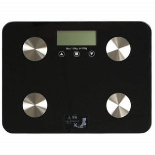 超薄型 厚さ23mm ヘルスメーター コンパクト ガラストップ 体重 体組成計(体重計)