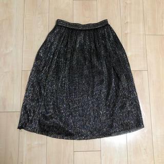 ザラ(ZARA)のZARA BASIC collection ラメ ロング ミモレ丈 スカート(ロングスカート)