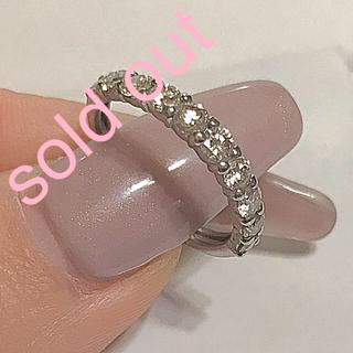 ダイヤモンド ハーフ エタニティ リング pt900 ★sold out★(リング(指輪))