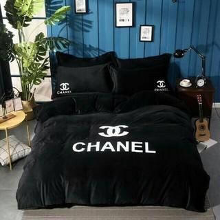 CHANEL - CHANEL寝具の用品4セット シャネルシーツ/カバー