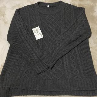 MUJI (無印良品) - 無印良品 ヤク入りウール アラン柄セーター新品 最終セール