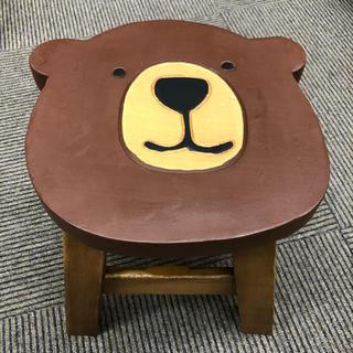 ウッドスツール クマシェイプ アカシア製 ラウンドスツール 木製 熊 動物(スツール)