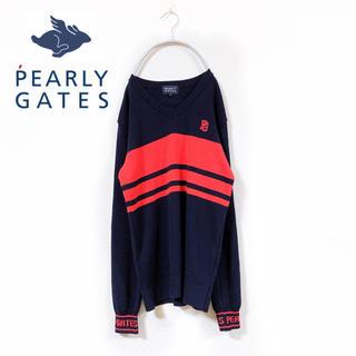 パーリーゲイツ(PEARLY GATES)のPEARLY GATES パーリーゲイツ ニット カーディガン vネック ゴルフ(ウエア)