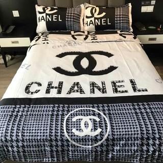 CHANEL - 寝具2枚枕カバー*4点セット 掛け布団カバー*ベッドシーツ