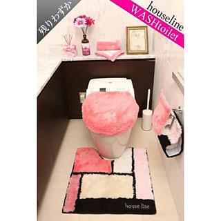 レディー(Rady)の♡Rady♡【ウォシュレット】パレットトイレ3点セット♡ピンク♡(トイレマット)