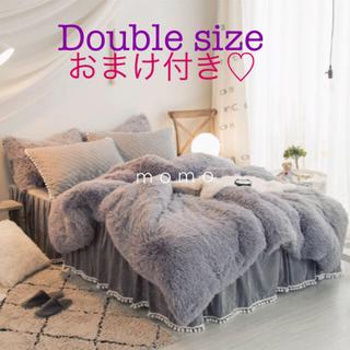 ベッドカバー♡寝具♡グレー♡シーツ♡ZARAHOMEやフランフラン好きに♡