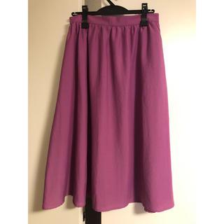 ジーユー(GU)のGU ギャザーフレアスカート(ひざ丈スカート)