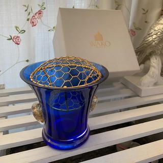 銀座和光⚜️綺麗なブルーのフラワーボウル(花瓶)