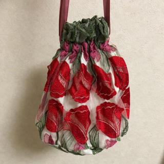 ドットアンドストライプスチャイルドウーマン(Dot&Stripes CHILDWOMAN)の新品 チャイルドウーマン 刺繍巾着(エコバッグ)