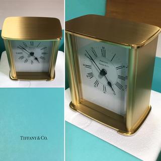 Tiffany & Co. - 美品 キズ無し Tiffany 置き時計 現在時を刻んでます❣️