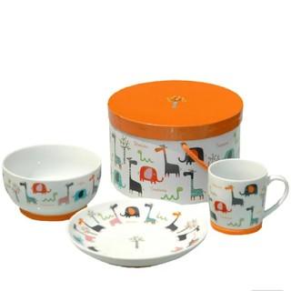 セラミック 子供用食器 3点セット 新品未使用品 (離乳食器セット)