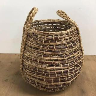 リゲル 鉢植えカバー 8号 ラタン アタ 籐 マクラメ ゴミ箱 バスケット カゴ(バスケット/かご)