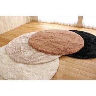【可愛い♪】丸型カーペット 140㎝ 丸洗い 折り畳み可能(カーペット)