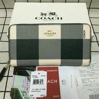 コーチ(COACH)の未使用品COACH 長財布 コーチメンズレディース財布 F25966 ホワイト(長財布)