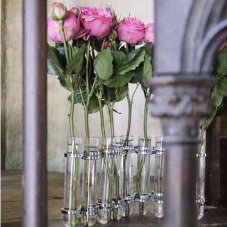 【フラワーベース】DULTON LINK TUBE VASE(シルバー)(花瓶)
