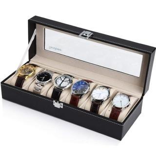 即買いOK★高級感 腕時計収納ケース 腕時計収納ボックス 6本用(その他)
