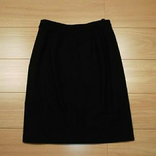 イネド(INED)のINED スカート 黒(ひざ丈スカート)