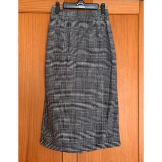 エムズエキサイト(EMSEXCITE)のグレンチェック タイトスカート Mサイズ(ひざ丈スカート)