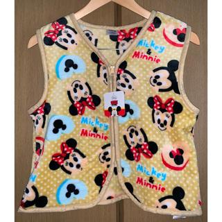 ディズニー(Disney)の【新品未使用】ミッキー ミニー スリーパー ベスト ディズニー 黄色(パジャマ)