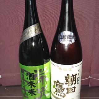 朝日鷹1升1本栄光冨士1升1本(日本酒)