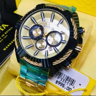 インビクタ(INVICTA)の【1個限定】Invicta メンズ ゴールドブルー Bolt【定価15万円】(腕時計(アナログ))