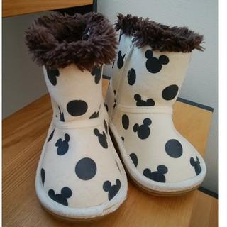 ディズニー(Disney)のミッキーマウス ムートンブーツ  13㎝(ブーツ)