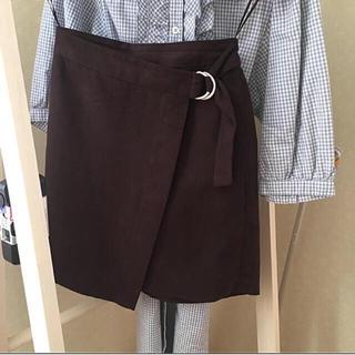 ジーユー(GU)のGU  巻きスカート ♡ 新品未使用(ミニスカート)
