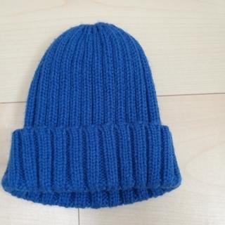 ジーユー(GU)の【GU】キッズニット帽 ブルー(帽子)