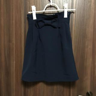 スピーガ(SPIGA)のSPIGA リボン付スカート【美品】(ミニスカート)