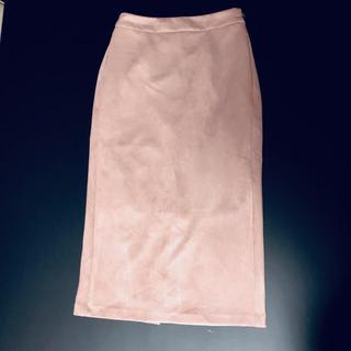 ジーユー(GU)のGU スェードタッチ タイトスカート♡ザラ ユニクロ H&M ミラオーウェン(ひざ丈スカート)