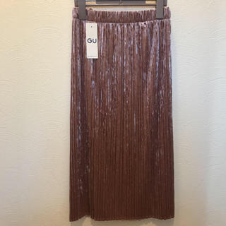 ジーユー(GU)のGU  💙クラッシュベロア フレアスカート  新品  💙(ひざ丈スカート)