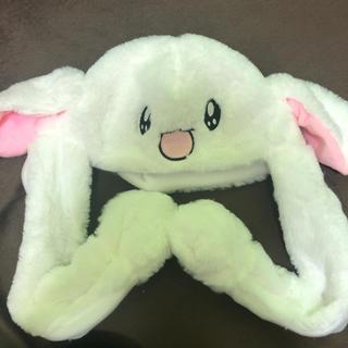 新品 タイムセール!耳が動くウサギの被り物 帽子