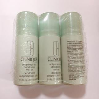 クリニーク(CLINIQUE)の新品 CLINIQUE ロールオン デオドラント 制汗剤 3本セット(制汗/デオドラント剤)