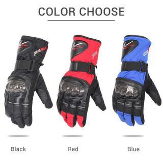 冬!ウインター バイク グローブ 冬 冬用 手袋 防寒 赤 青 黒 M L XL(装備/装具)