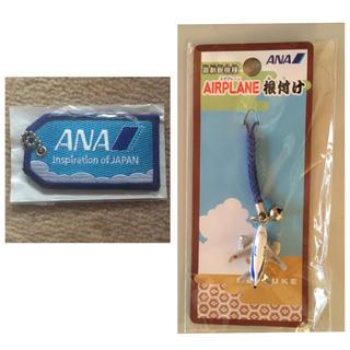 エーエヌエー(ゼンニッポンクウユ)(ANA(全日本空輸))の全日空 キーホルダー2点セット(航空機)