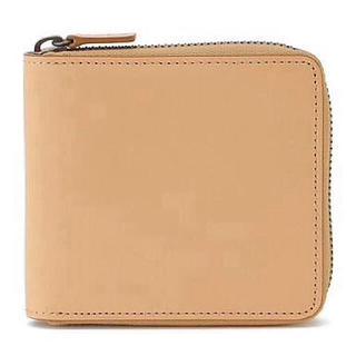 MUJI (無印良品) - 【新品】MUJI イタリア産ヌメ革ラウンド 二つ折り財布
