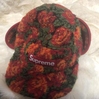 Supreme - supreme FLEECE ROSES EAR CAMP CAP