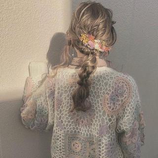 カスタネ(Kastane)のドライフラワー 髪飾り(ヘアアクセサリー)