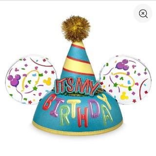 Disney - 誕生日 ハッピーバースデー イヤーハット 帽子 海外 ディズニー